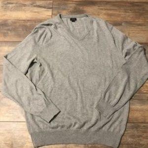 Tan V Neck Sweater